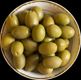 Plate with olives Royalty Free Stock Images