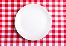 Plate On A Tablecloth Stock Photography