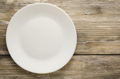 Free Plate On A Wooden Background. Plate Top View. Copy Space Royalty Free Stock Photos - 99594978