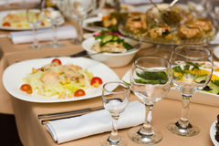 Plate with original appetizer Royalty Free Stock Photo