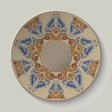 Plate with an ornament in the ancient Greek style Royalty Free Stock Photo