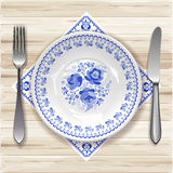 Plate with ornament Stock Photography