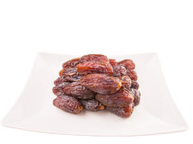 Plate Of Palm Dates II Stock Photos