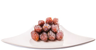 Plate Of Palm Dates IV Royalty Free Stock Images