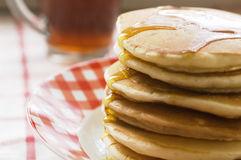 Plate of pancakes Royalty Free Stock Photos