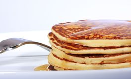 Plate of pancakes Stock Photo