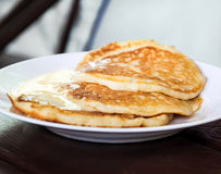 A plate of pancakes Royalty Free Stock Images