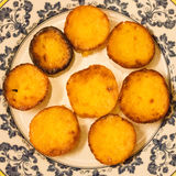 A plate of pastéis do Egipto (cakes from Egypt), traditional Portuguese sweets Stock Photo