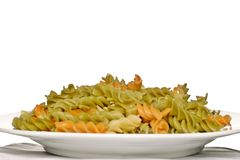 Plate of pasta Royalty Free Stock Image