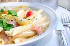 Plate of pasta Stock Photo