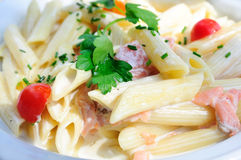 Plate of pasta Stock Image