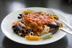 Plate of pasta Stock Photos