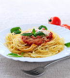 Plate of pasta Stock Images