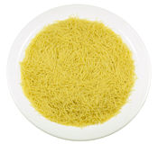 A plate of pasta. Isolated image of a plate of pasta on a white background Stock Photo