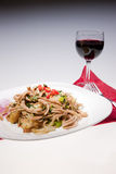 Pasta and wine. Royalty Free Stock Images