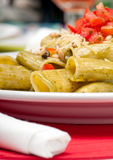 Plate of pasta salad. Stock Photos
