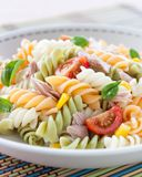Plate of pasta salad Stock Photos