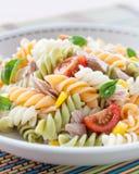Plate of pasta salad Stock Photos