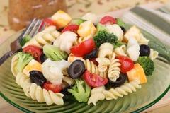Plate of Pasta Salad Stock Photo