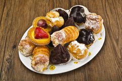 Plate of pastries Stock Image