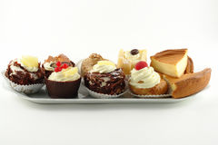 Plate of pastries Royalty Free Stock Photos