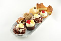 Plate of pastries Royalty Free Stock Images