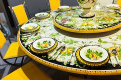 Plate with a pattern Khokhloma Royalty Free Stock Photo