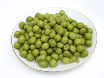 Plate of pea. The plate of the rich green pea Royalty Free Stock Images