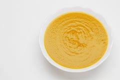 Plate of pea cream soup Stock Image