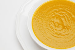 Plate of pea soup Stock Images