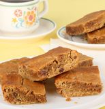 Plate of Peanut Butter Bars Stock Photos