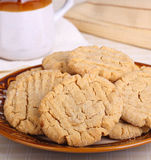 Plate of Peanut Butter Cookies Royalty Free Stock Image