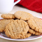 Plate of Peanut Butter Cookies Stock Photography