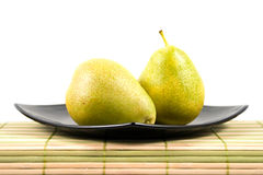 Plate with pears Stock Image