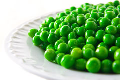 Plate of peas Royalty Free Stock Photos
