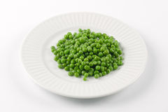 Plate of peas stock images