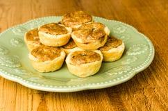 Plate of pecan tassie cookies Royalty Free Stock Images