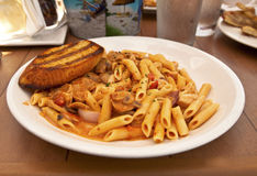 Plate of penne pasta Royalty Free Stock Photography