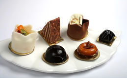 Plate of petits fours Stock Image