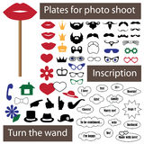 Plate for photo shoot on stick Royalty Free Stock Images