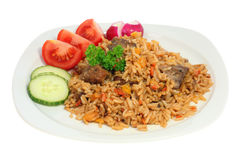 Plate of pilaf. Stock Images