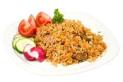 Plate of pilaf. Royalty Free Stock Photo