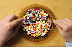 Plate with Pills Stock Photos