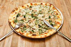 A plate with pizza Stock Image