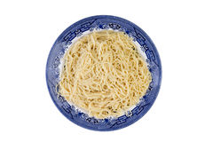 Plate of plain cooked Italian spaghetti pasta Royalty Free Stock Images