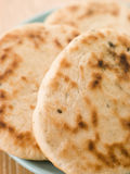 Plate of Plain Naan Breads stock images