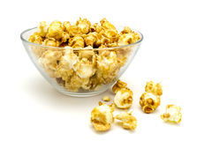 Plate of Pop corn isolated Stock Images