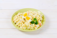 Plate of potato salad Stock Images