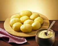 Plate of potatoes Stock Image