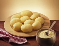 Plate of potatoes Royalty Free Stock Photos